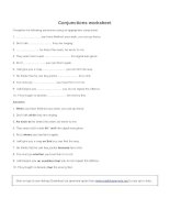 Conjunctions worksheet 2