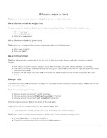 Different uses of that