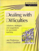 Dealing with difficulties
