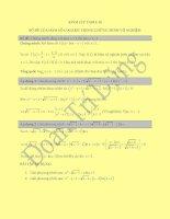Kinh Lup Table 15_Bộ đề của hàm số logarit trong chứng minh vô nghiệm