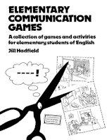 Elementary communication games