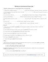 Sentence connectors exercise