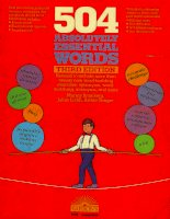 504 absolutely essential words 3rd edition Barrons