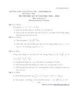 tuyển tập đề thi toán 12 trương chuyên