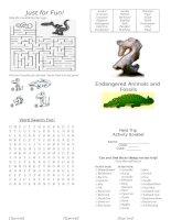 35335 endangered animals activity book