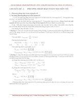 Chuyên đề 2 phương pháp bảo toàn nguyên tố