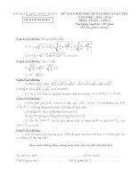 đề thi huyện môn toán huyện bình giang hải dương