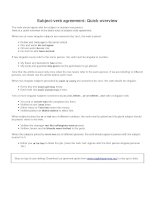 Subject verb agreement quick overview