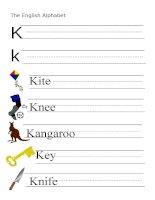 53881 the alphabet  letter k