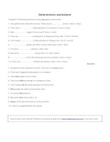 Determiners worksheet