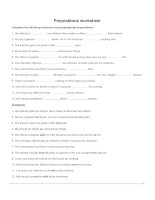 Prepositions worksheet 3