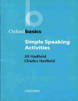 Oxford basics   simple speaking activities