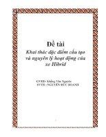 ĐỀ tài KHAI THÁC đặc điểm cấu tạo và NGUYÊN lý HOẠT ĐỘNG của XE HIBRID