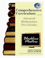 Advanced mathematics pre calculus