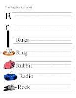 53893 the alphabet  letter r