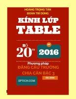 Kinh Lup Table 20_Phương pháp đẳng cấu trường thầy đoàn trí dũng