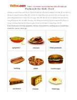Flashcards for Kids: Food