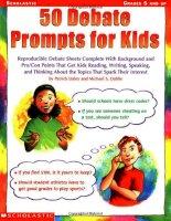 50 debate prompts for kids