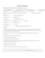 Tenses worksheet 2