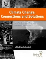 climate change connections and solutions