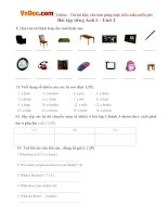 Bài tập Tiếng Anh lớp 6 Unit 3: At Home Số 2