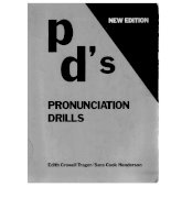 Pronunciation drills p ds by trager henderson