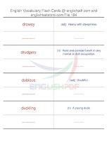 TOEFL IBT vocabulary flash cards184