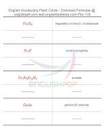 Vocabulary flash cards   chemical formulas119
