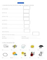 16917 the weather  worksheet