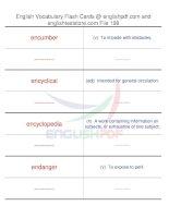 TOEFL IBT vocabulary flash cards198