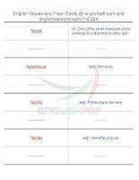TOEFL IBT vocabulary flash cards224