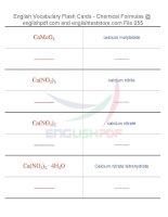 Vocabulary flash cards   chemical formulas55