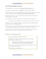 Food additives essay