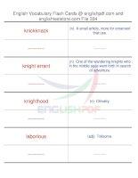 TOEFL IBT vocabulary flash cards334
