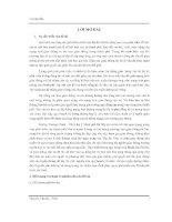 ĐỒ án QUY HOẠCH GIAO THÔNG TRÊN TRỤC ĐƯỜNG TRƯỜNG CHINH