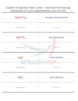 Vocabulary flash cards   chemical formulas01