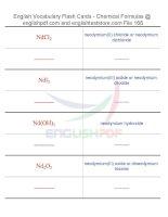 Vocabulary flash cards   chemical formulas168
