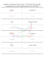 Vocabulary flash cards   chemical formulas39