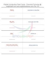 Vocabulary flash cards   chemical formulas157