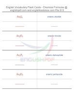 Vocabulary flash cards   chemical formulas15