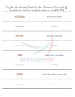 Vocabulary flash cards   chemical formulas09