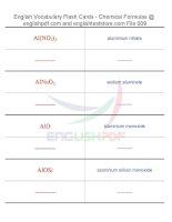 Vocabulary flash cards   chemical formulas09
