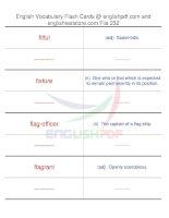 TOEFL IBT vocabulary flash cards232