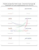 Vocabulary flash cards   chemical formulas18