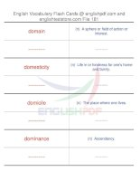 TOEFL IBT vocabulary flash cards181