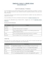 IELTS vocabulary problem