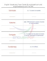 TOEFL IBT vocabulary flash cards245