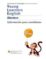 University of Cambridge ESOL Examinations Young Learners English Starters Information for Candidates