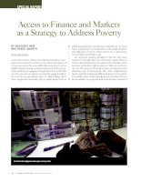 Access to Finance and Markets as a Strategy to Address Poverty
