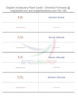 Vocabulary flash cards   chemical formulas100